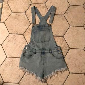 Forever 21 denim overalls